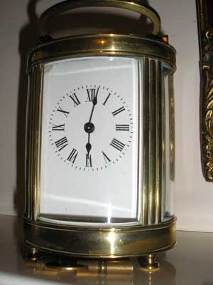 Cylindrical-Brass-Carriage-Clock-