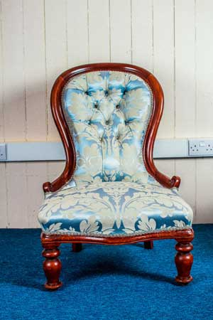 Damask-Victorian-Chair