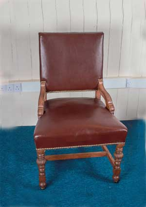 Victorian-Oak-Armchair