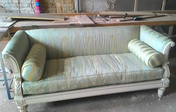 Green-Silk-Sofa-for-sale-Hythe-Kent